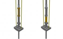 Distanciadores fixos e encaixáveis para hastes;