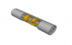 Centralizador para tubo e protetor para cabo;